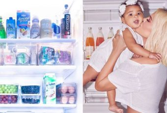 Khloe And Baby True In Their Kitchen