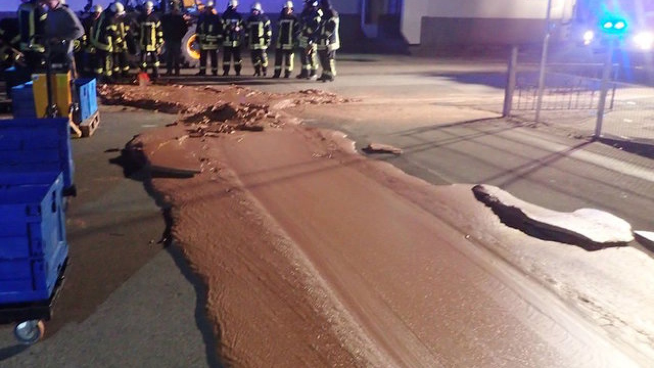 Spilled Chocolate In Werl, Germany