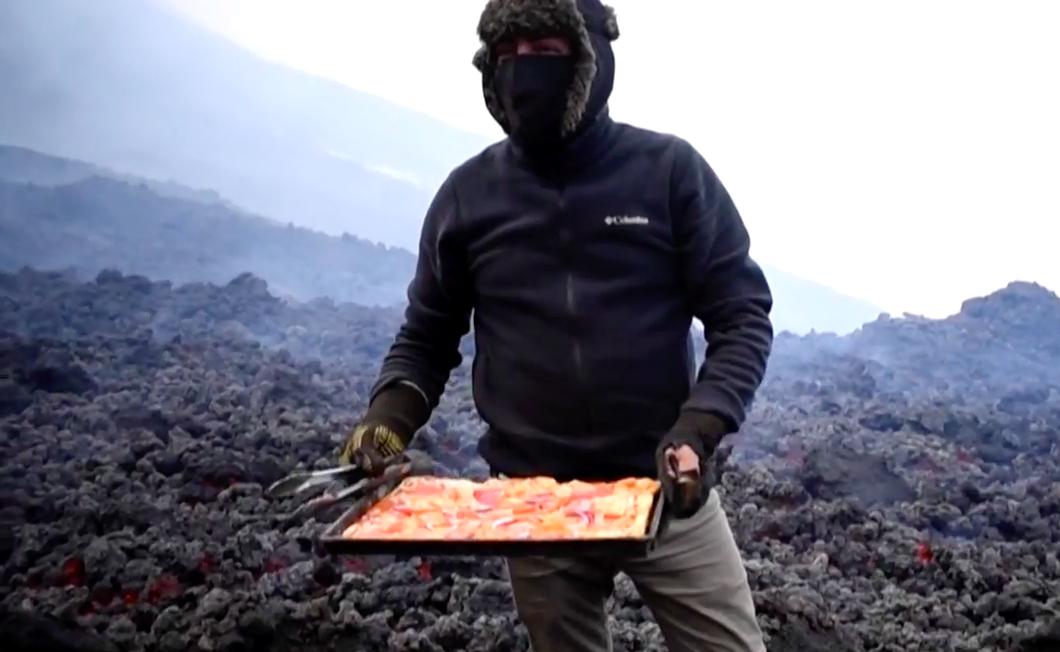 Pizza Atop A Volcano